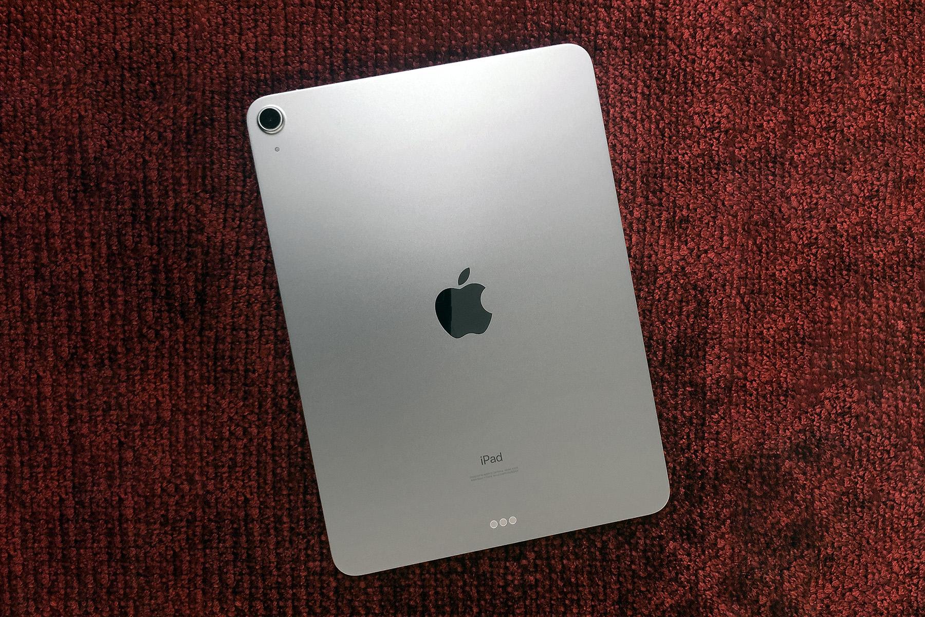 A rear view of Apple's 2020 iPad Air.