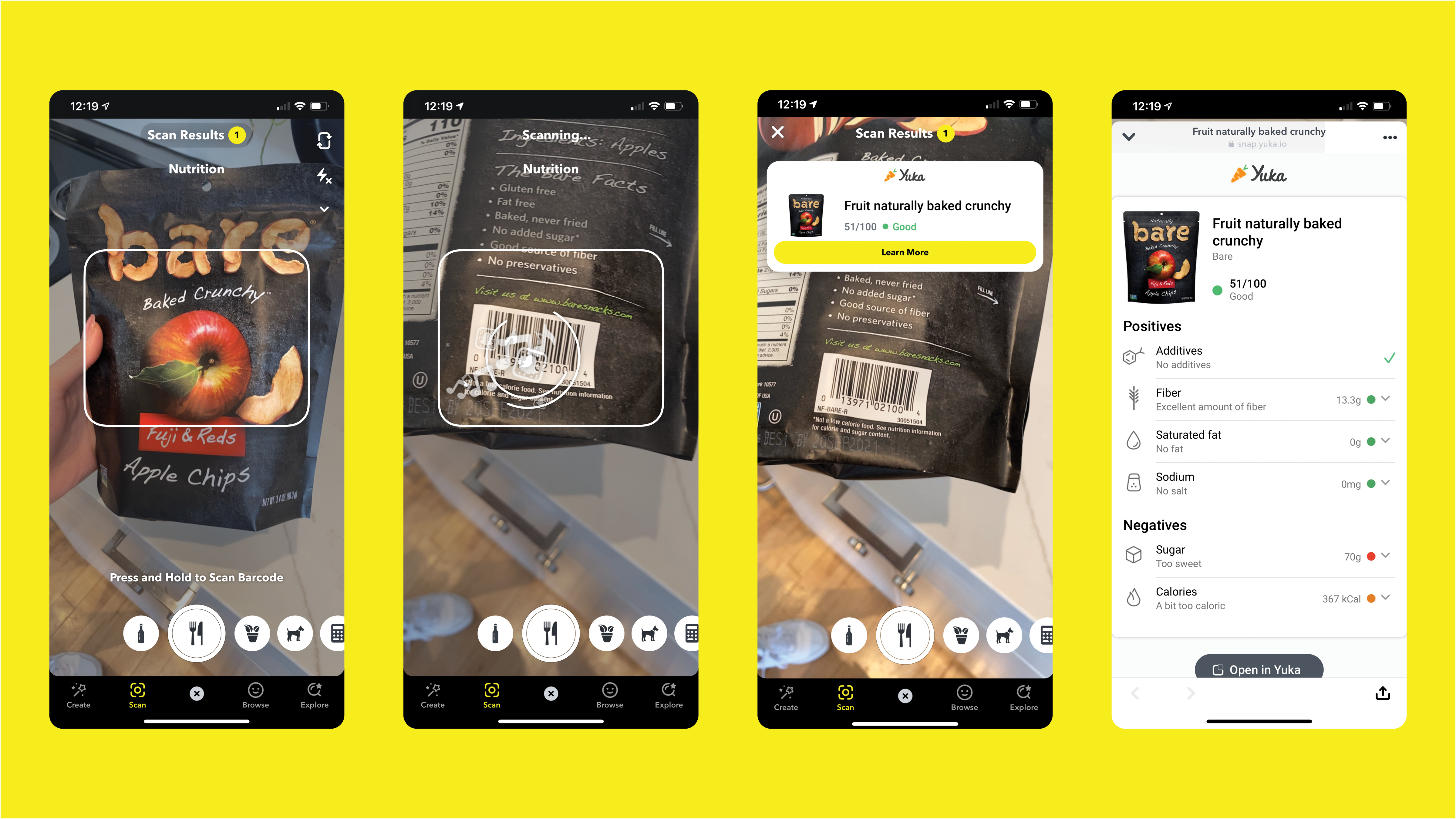Snapchat can now scan food and wine labels