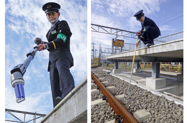 Panasonic built a vacuum to rescue AirPods from train tracks