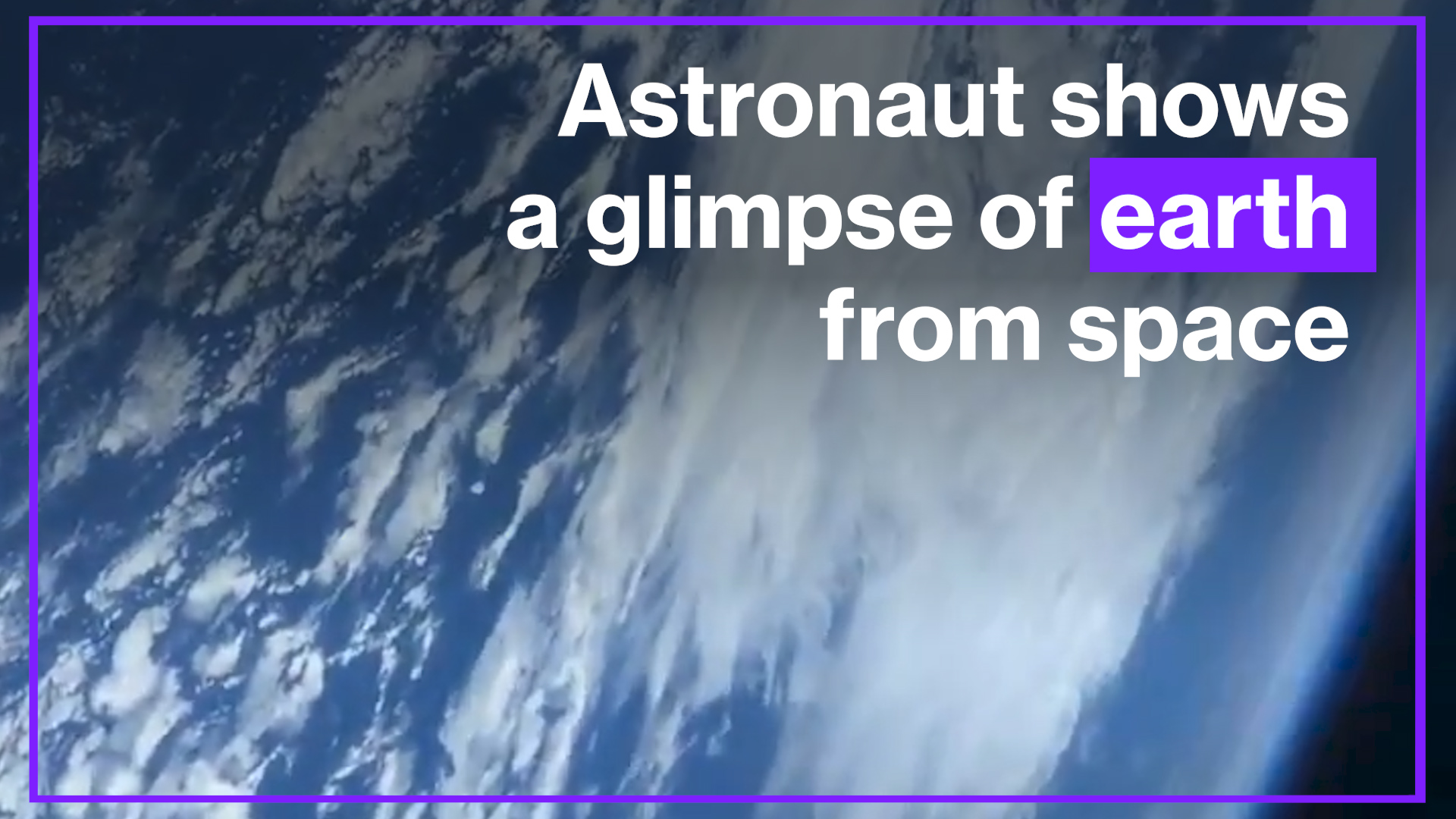uk.news.yahoo.com: Astronaut shows glimpse of earth From space