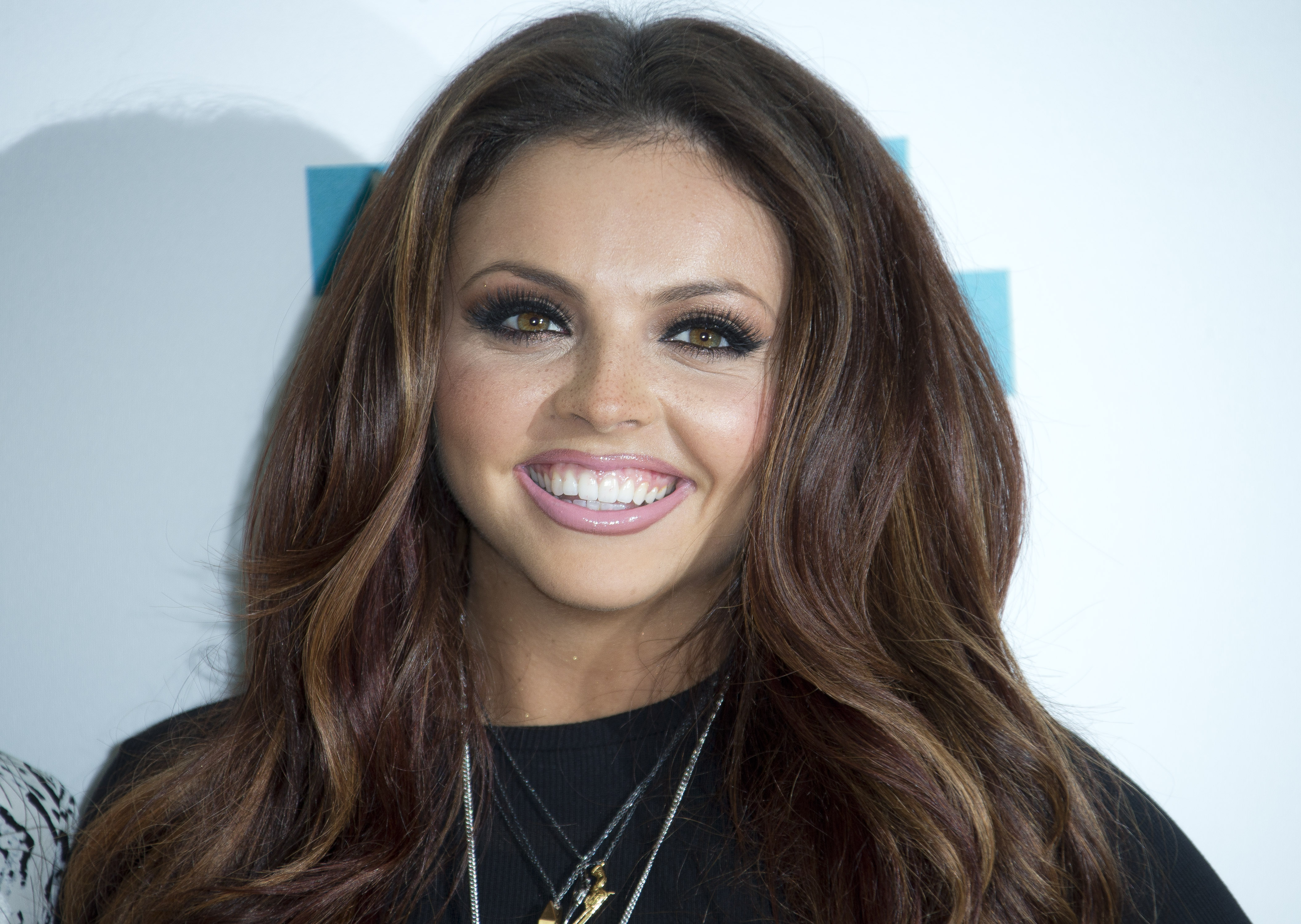 British girl band member of Little Mix, Jesy Nelson, poses for photographs during a photo call to unveil their make up range, at a hotel in London, Tuesday, Sept. 24, 2013. (Photo by Joel Ryan/Invision/AP)