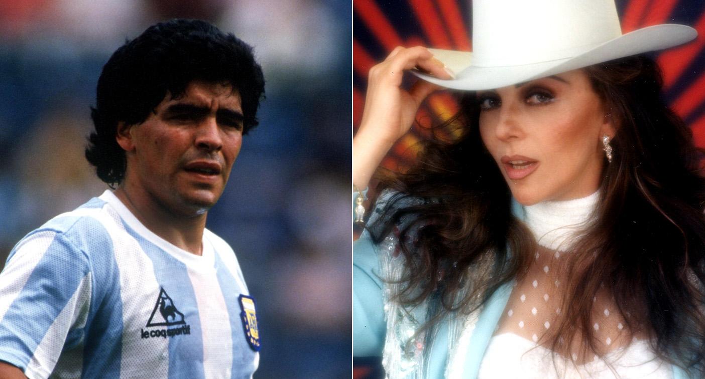 El día que Maradona se enamoró de Verónica Castro y le movieron cielo, mar y tierra para verla