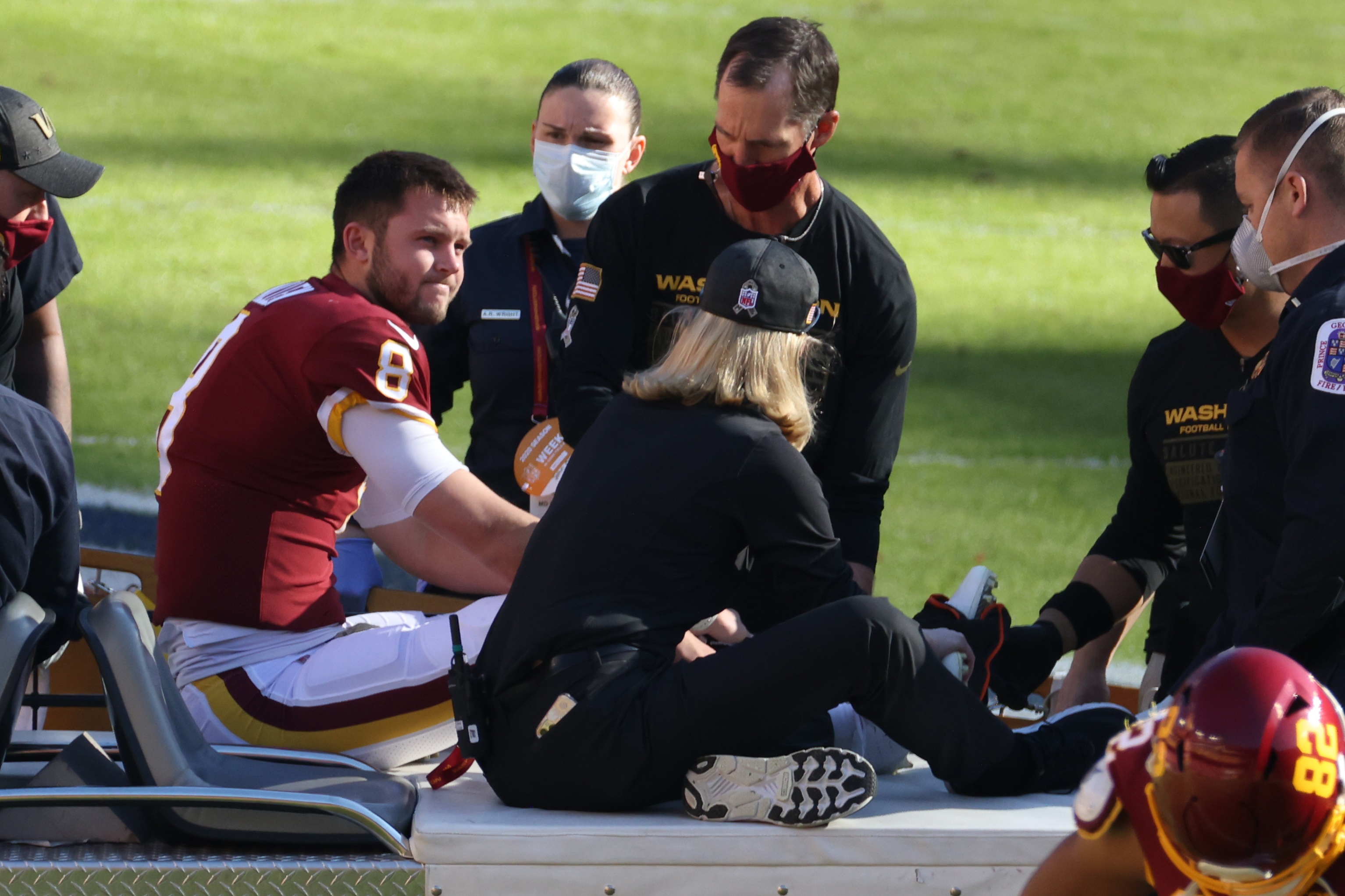 Nfl Kyle Allen Replaced By Alex Smith After Brutal Leg Injury