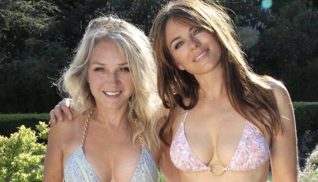 Elizabeth Hurley, 55, and her big sister stun in bikini throwback