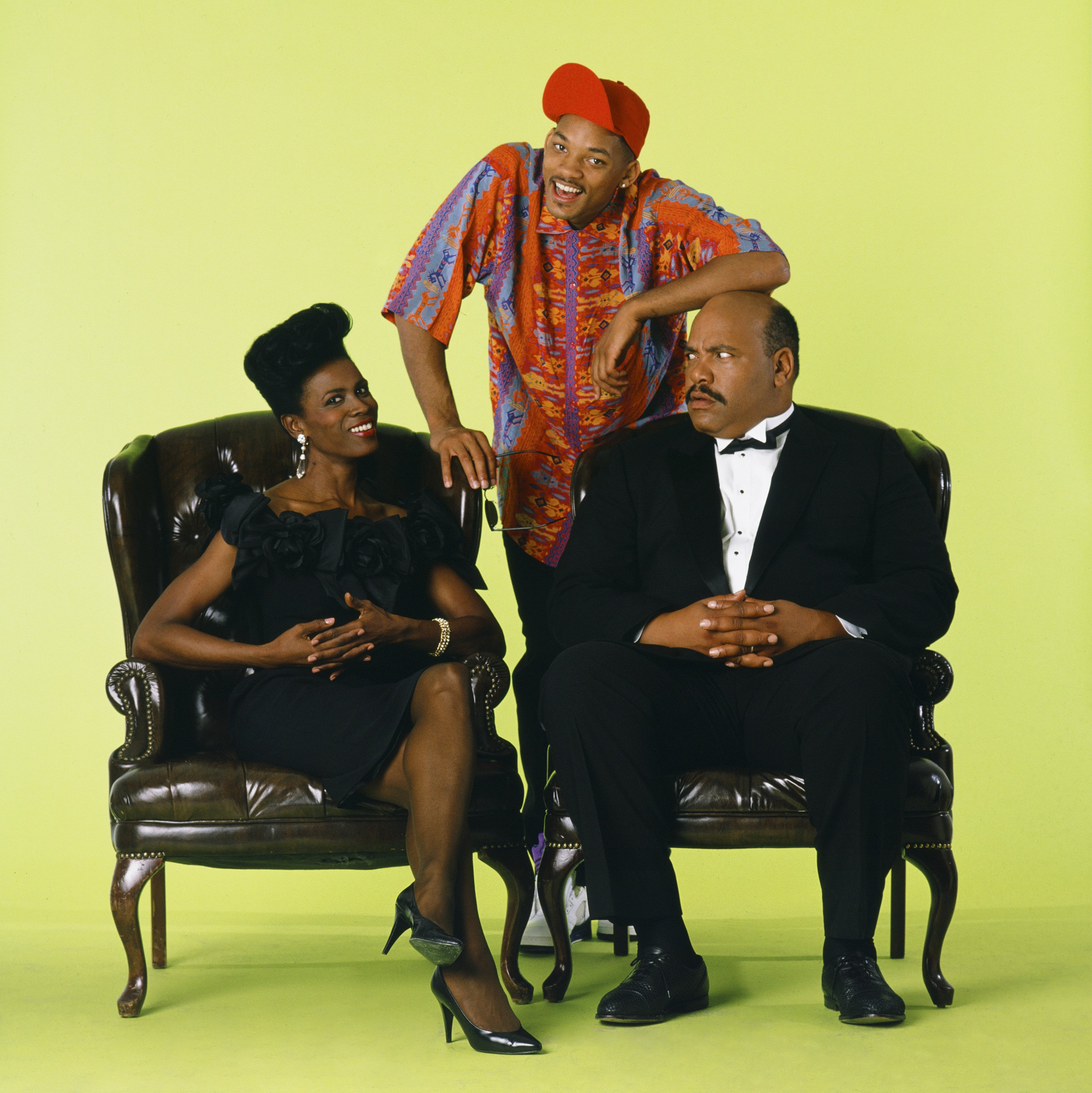 THE FRESH PRINCE OF BEL-AIR -- Season 1 -- Pictured: (l-r) Janet Hubert as Vivian Banks, Will Smith as William 'Will' Smith, James Avery as Philip Banks -- Photo by: Chris Haston/NBCU Photo Bank