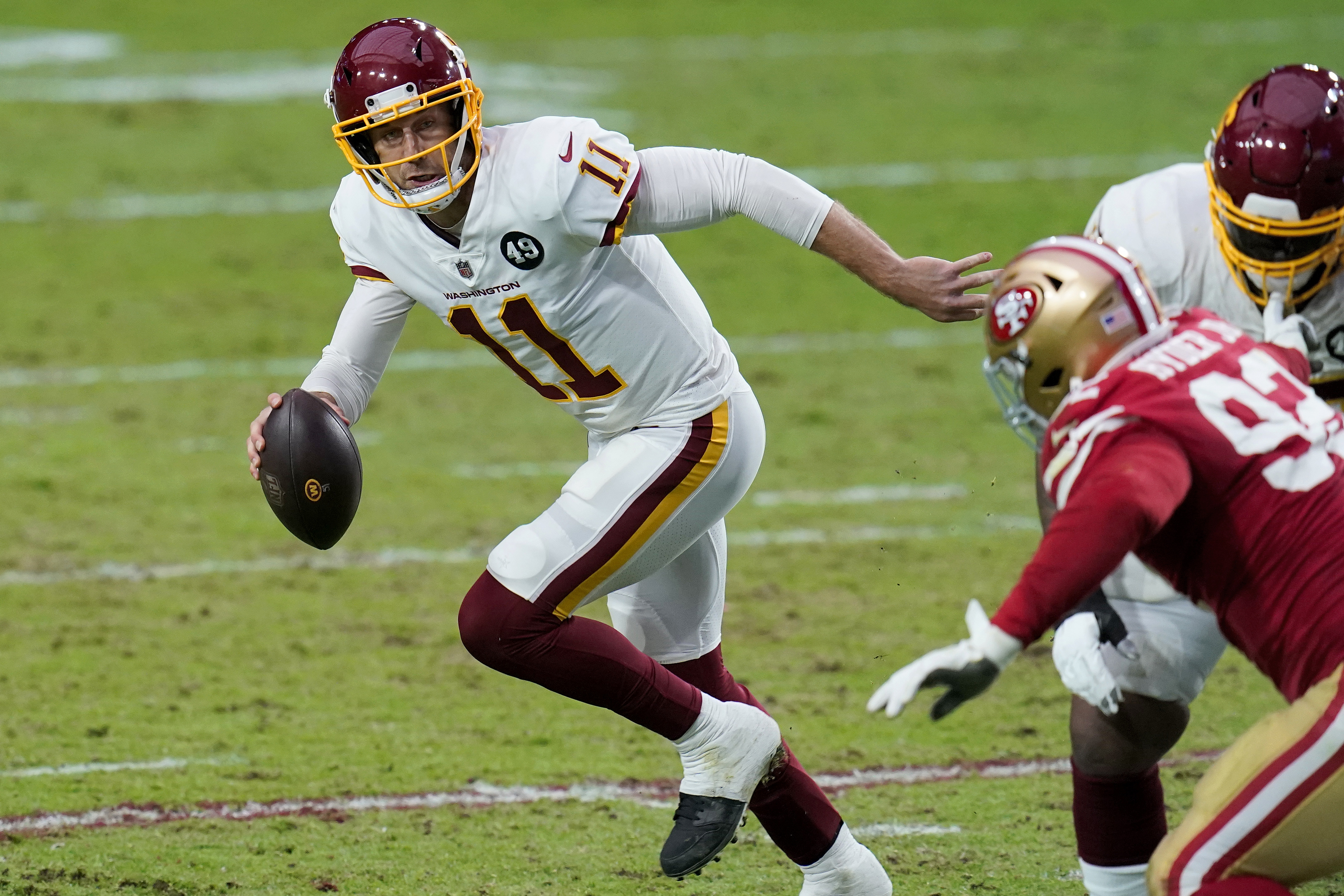 Nfl Alex Smith Leaves Wft Game Vs 49ers With Leg Inuury
