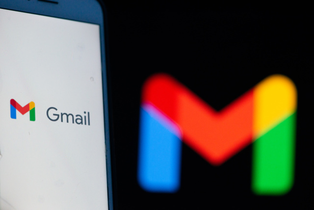 An user opening Gmail App with the new logo in L'Aquila, Italy, on October 23, 2020. After seven years Google Mail Gmail changes its logo. (Photo by Lorenzo Di Cola/NurPhoto)