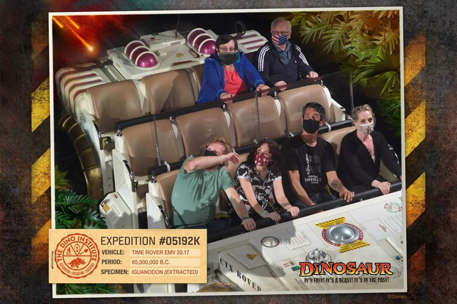 Disney ride photo