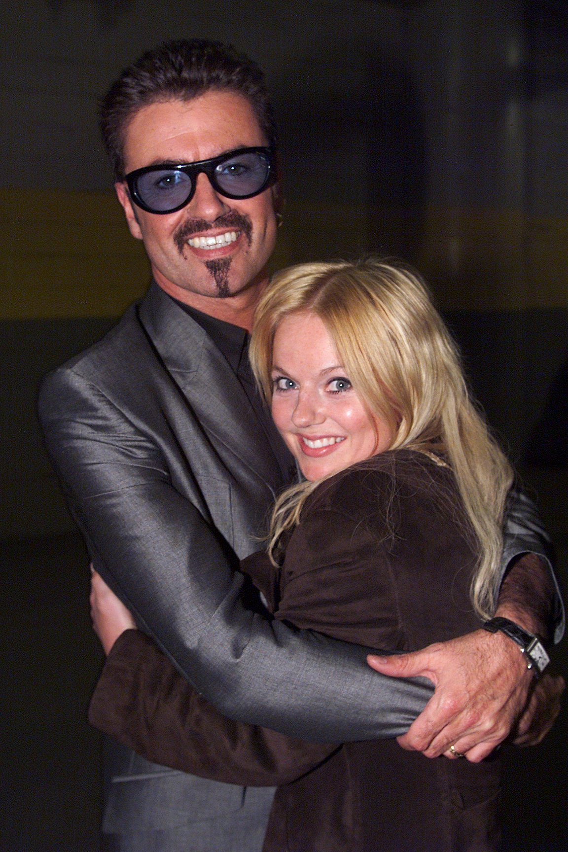 George Michael and Geri Halliwell at the RFK Stadium in Washington, D.C. (Photo by Kevin Mazur/WireImage)