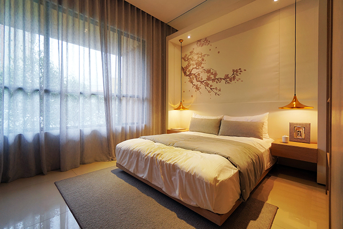 可以透過牆面的變化裝飾,帶入日系禪意風。