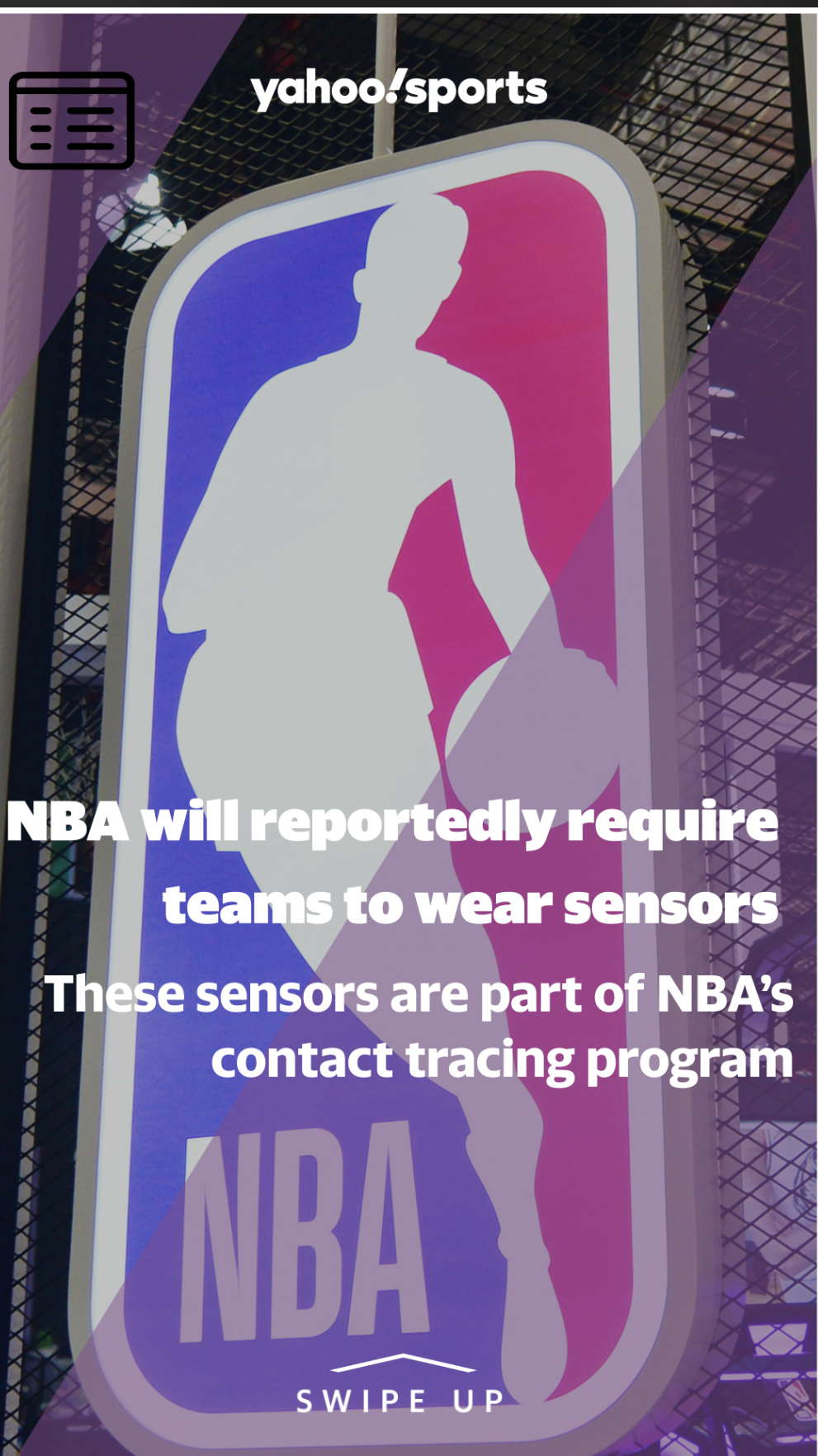 www.yahoo.com: NBA will reportedly require teams to wear sensors