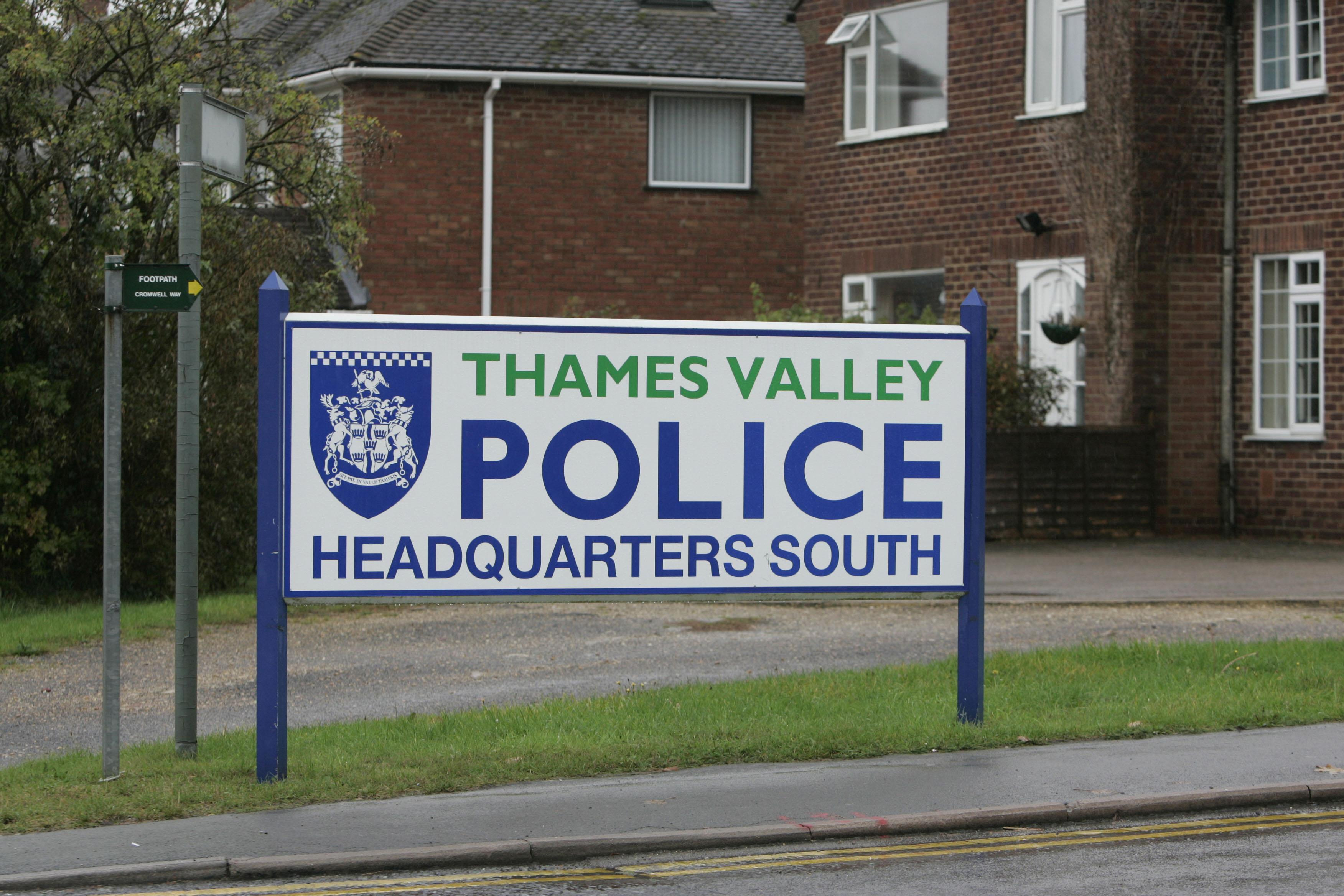 General view of the sign outside Thames Valley Police Head Quarters.   (Photo by Tim Ockenden - PA Images/PA Images via Getty Images)