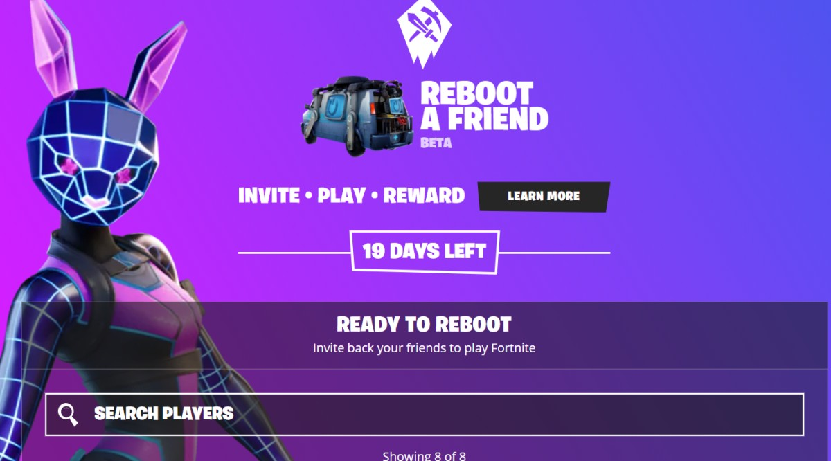 Fortnite Is Trying To Get Squads Back Together With Reboot A Friend 6.while i was on holiday my 7.while i was on holiday my camera (steal) from my hotel room. reboot a friend