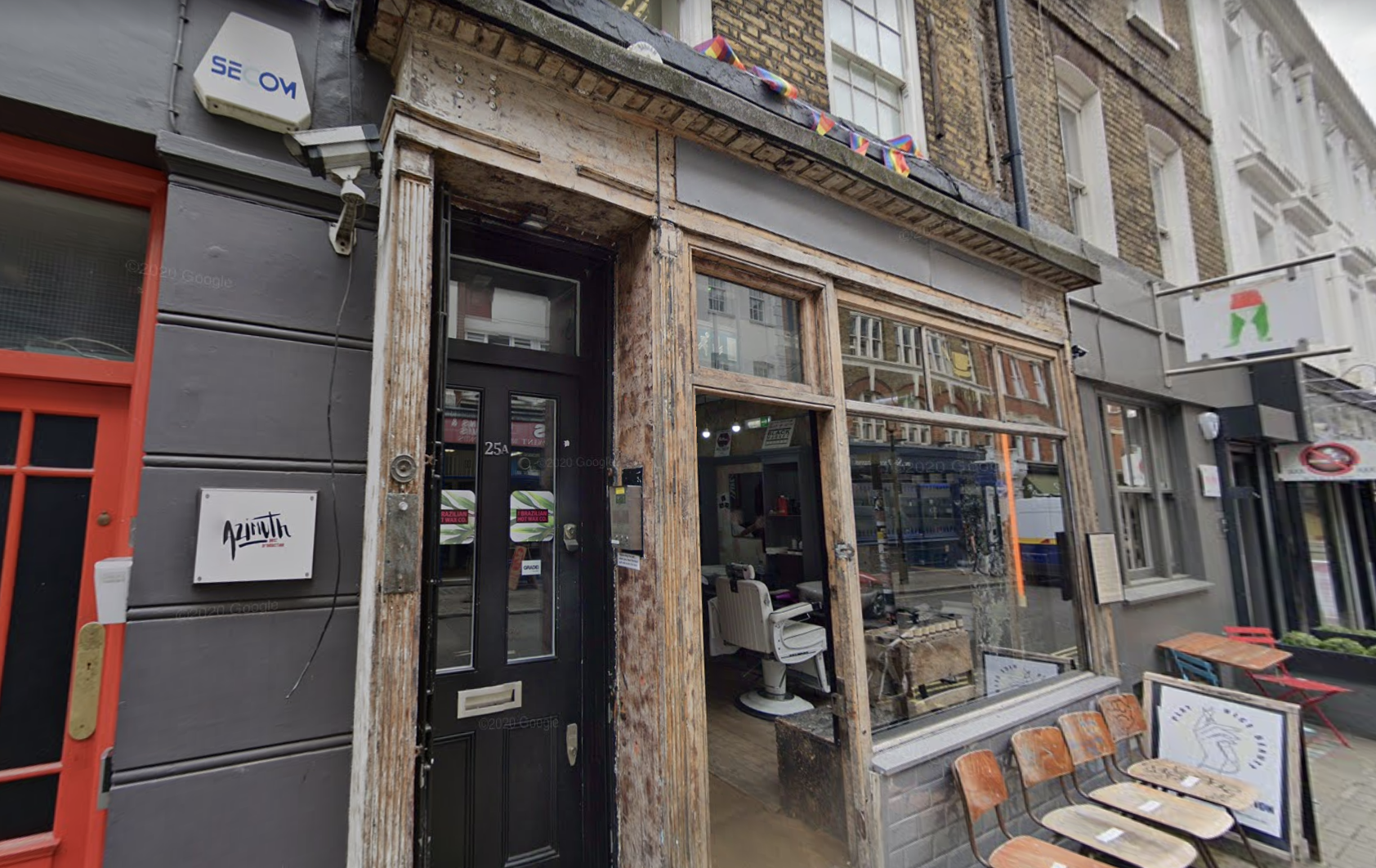 The exterior of the barber shop in Soho. (Google)