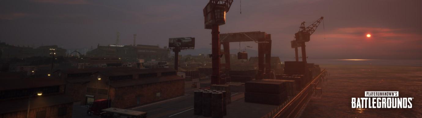 碼頭 (Docks):東邊燈火通明的碼頭不僅提供掩護,同時玩家們也可以利用接駁船進行移動。