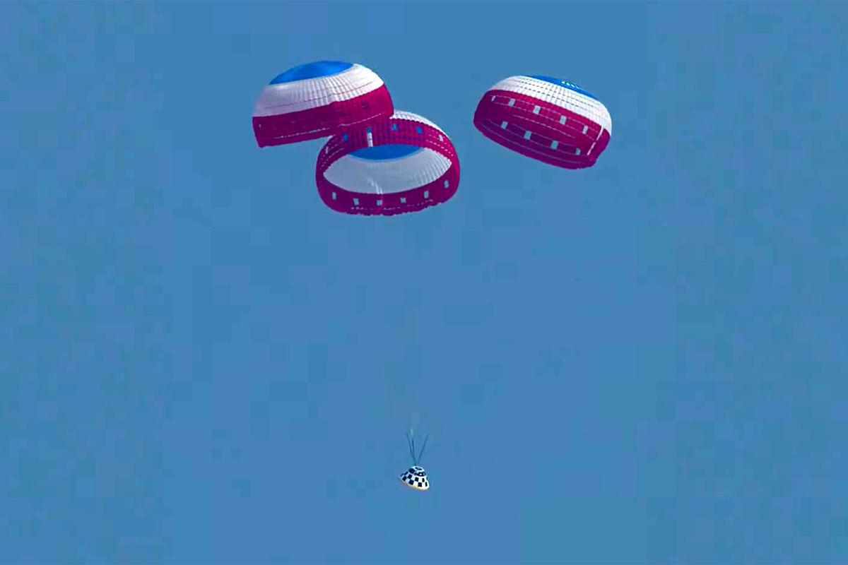 Starliner parachute test