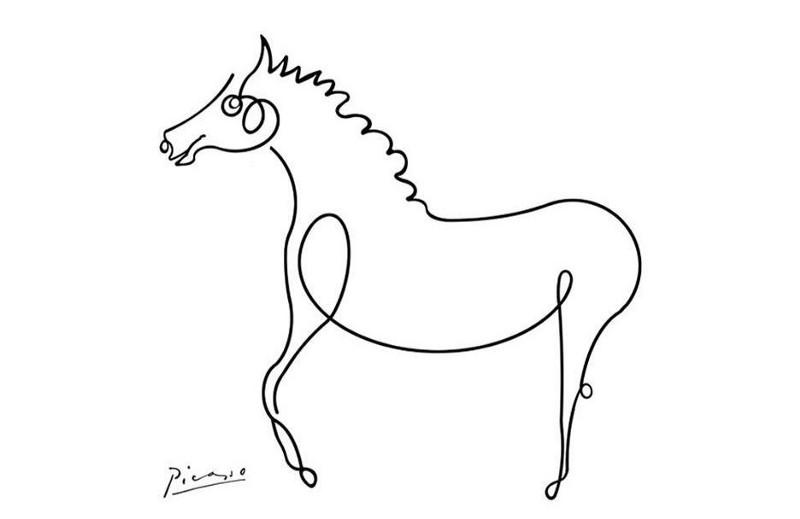 (图七)艺术家毕卡索画的马