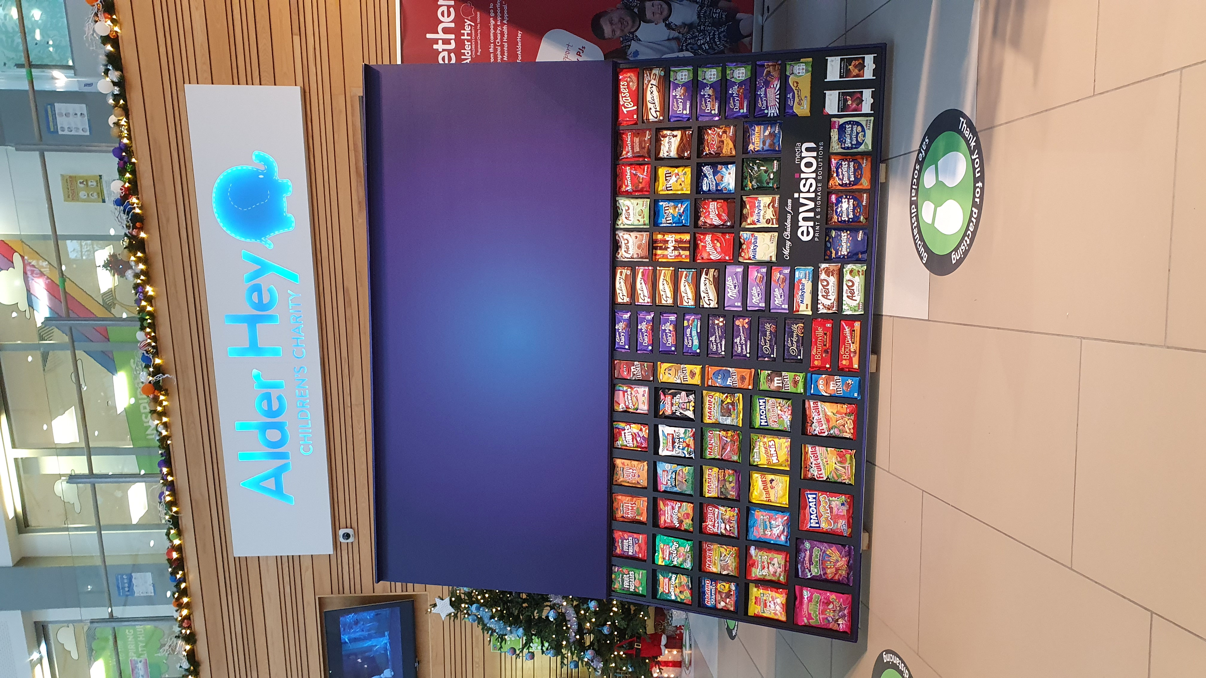 A company has created the world's biggest selection box -- boasting a whopping 80,000 CALORIES