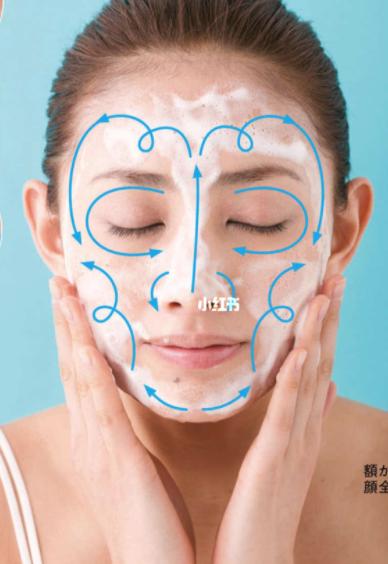 眼睛周圍和太陽穴以及鼻子彎曲的部分要輕柔,洗5~6秒即可去除污垢了,一定要輕~手指不要用力。