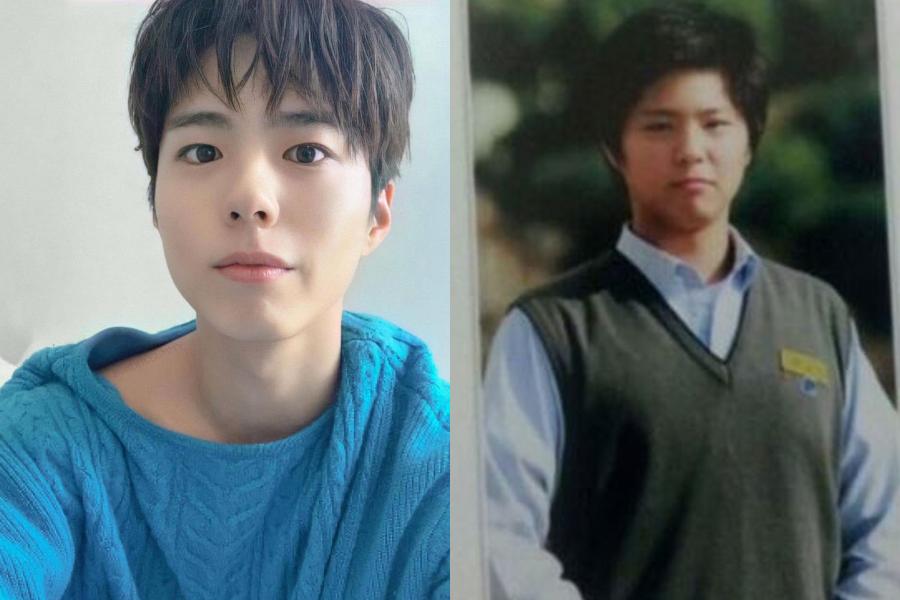 朴寶劍也曾經在IG上公開自己學生時期的照片