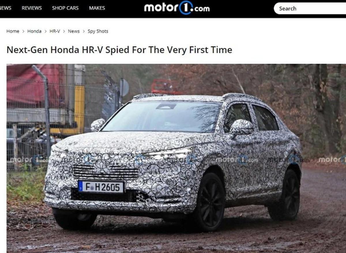 新一代 HR-V 測試車於歐洲現身。