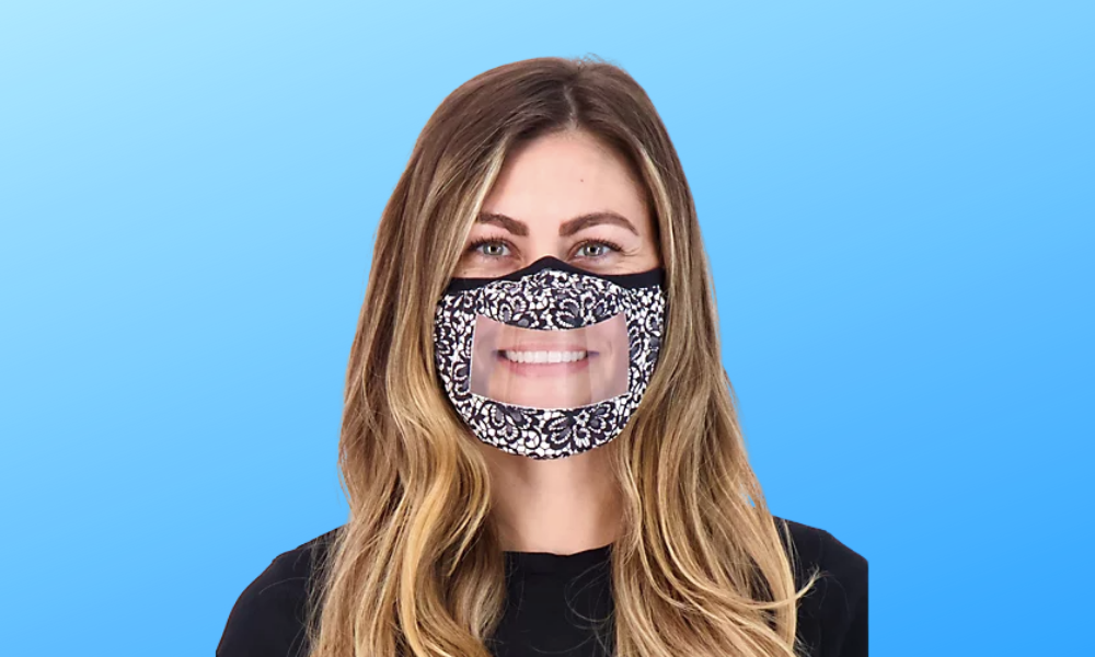 Stock up! These clear face masks are on sale—and show off your smile