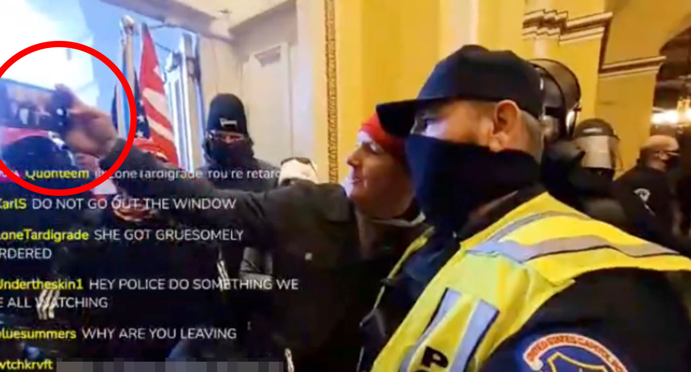 Police officer accused of 'sickening' act with Trump protester