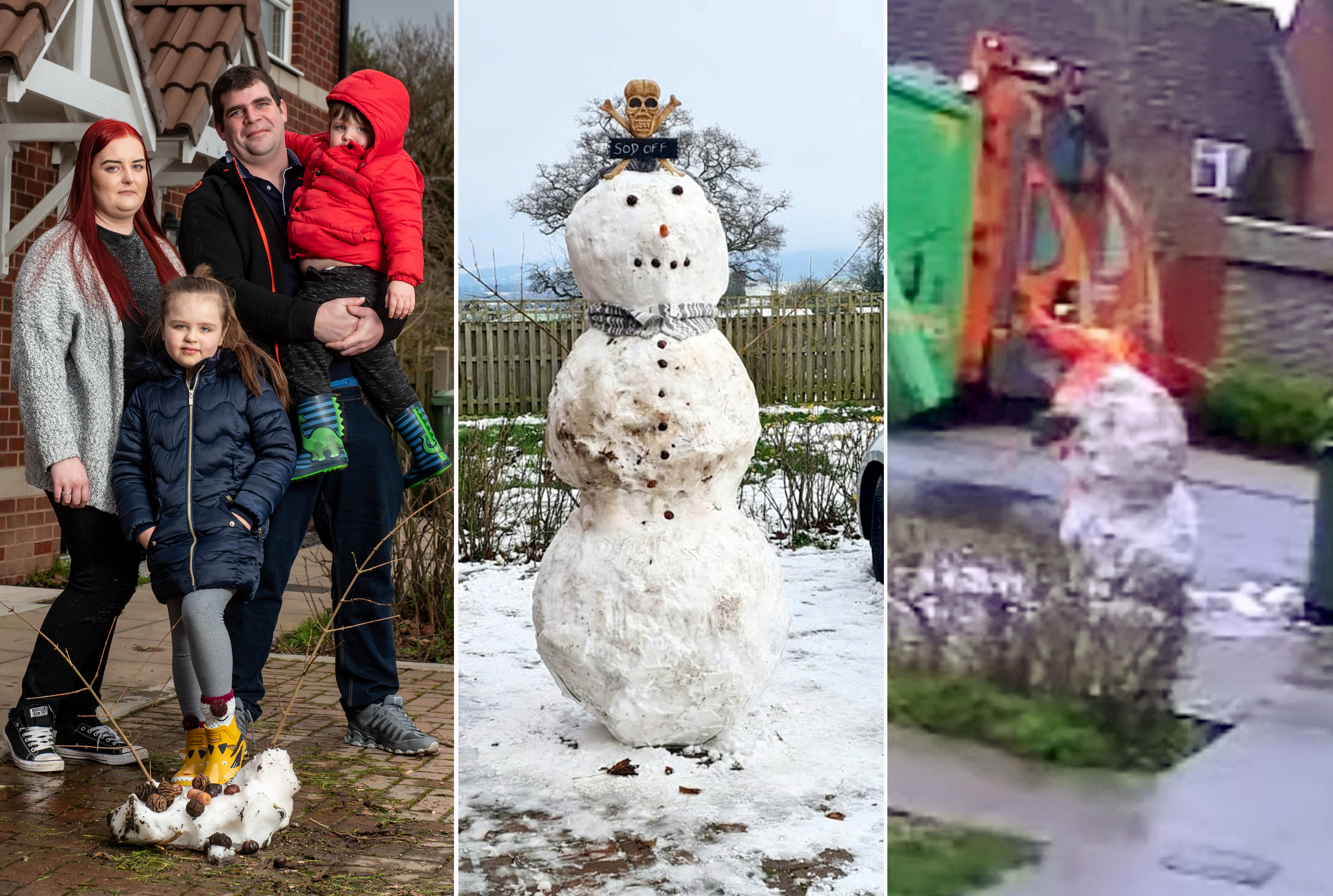"""A yob binman who was sacked after being caught on CCTV kicking over a child's snowman has refused to apologise - branding the boy's parents """"snowflakes""""."""
