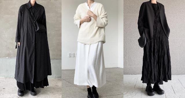 鍾愛「黑白穿搭」的質感歐膩 kwonjeejin