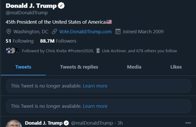 Trump twitter account