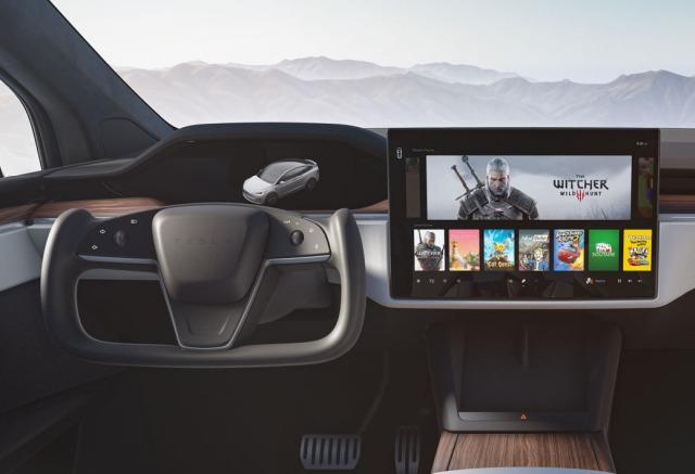 2021 Model X interior
