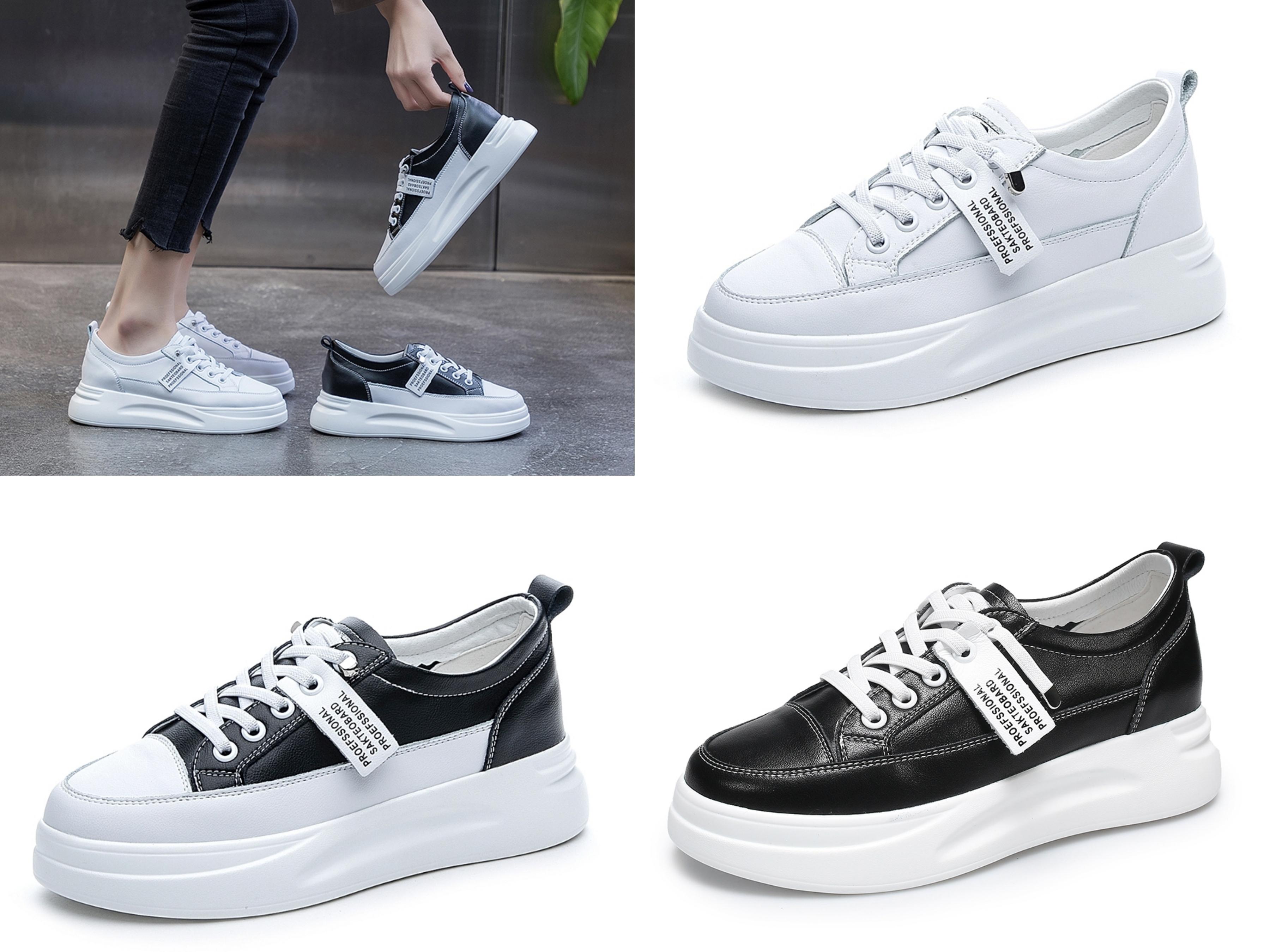 T2R-正韓空運-織帶造型真皮帆布鞋小白鞋(三色) 百搭真皮厚底織帶帆布鞋,三種基本色系超實穿