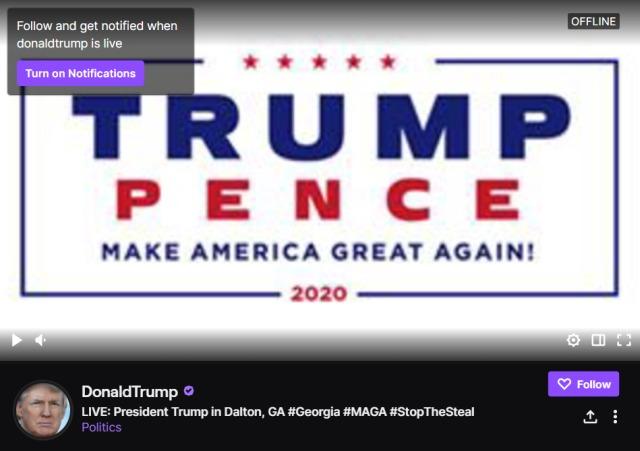 Donald Trump Twitch
