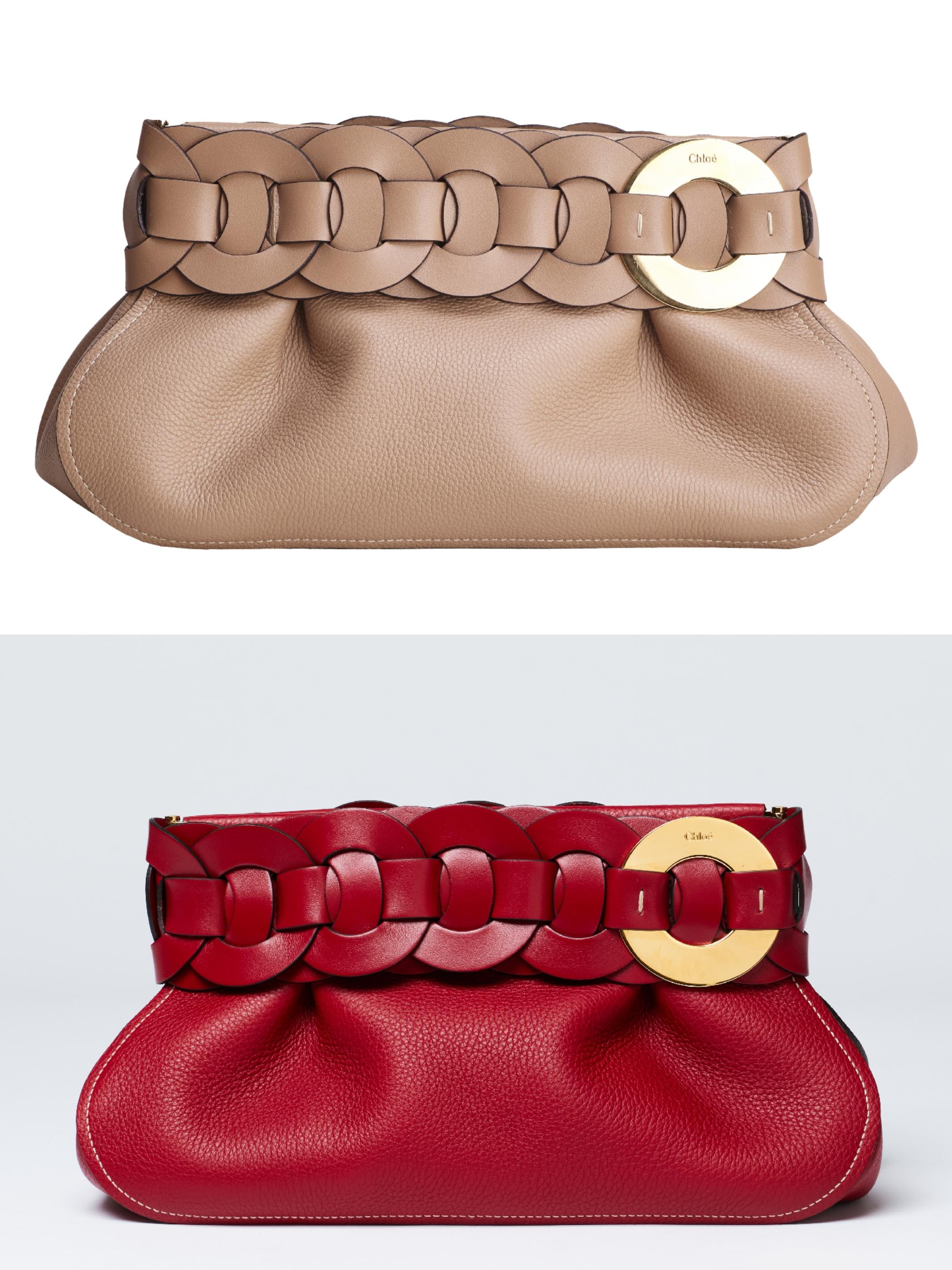 Chloé Darryl棕色手拿包,NT$47,300