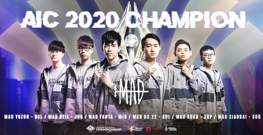 MAD勇奪AIC 2020國際賽世界冠軍