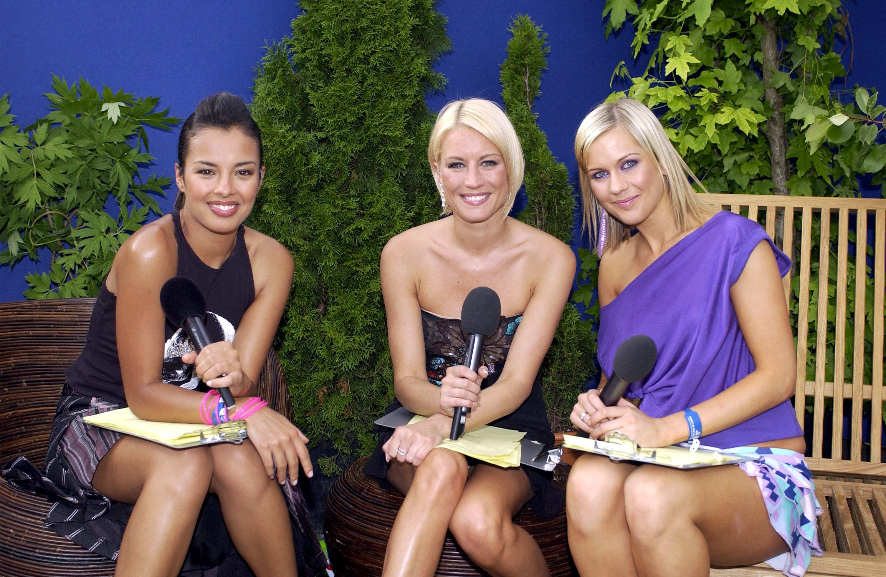 Capital Fm Party In The Park For The Princes Trust In London, Britain - 05 Jul 2003, Liz Bonnin, Denise Van Outen And Kate Lawler (Photo by Brian Rasic/Getty Images)