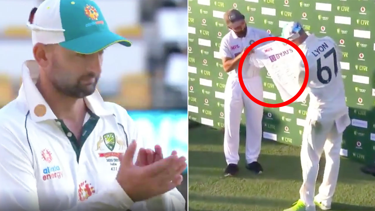 'Class act': Cricket world hails India's superb gesture for Nathan Lyon