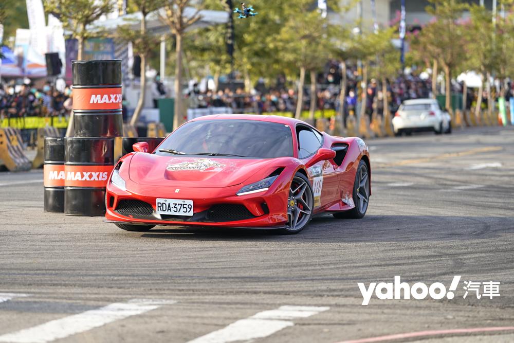 彰化賽車節的名聲響亮,吸引 Ferrari F8 的車主也來報名參賽。
