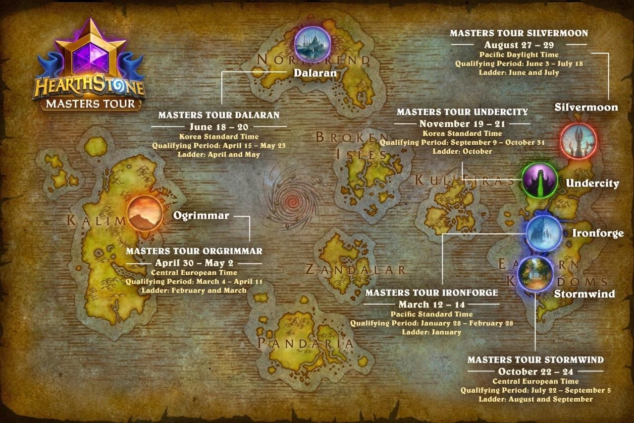 2021 年大師巡迴賽的舉辦地點將回歸 《爐石戰記》 遊戲世界,第一站鐵爐堡將於3月12日至14日登場