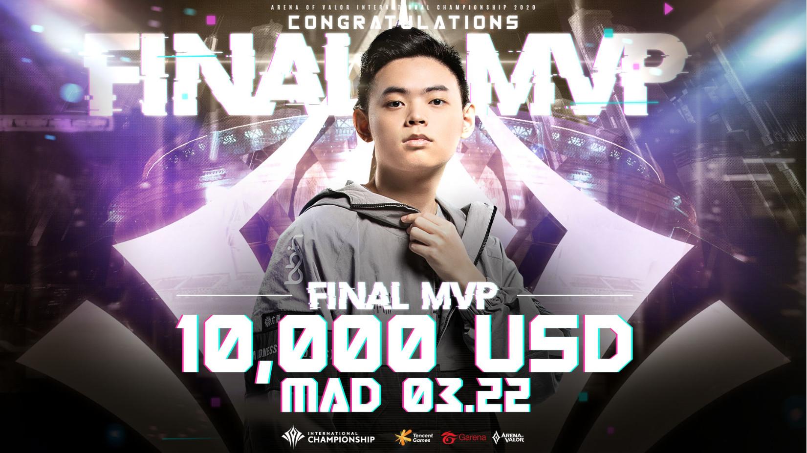 MAD 03.22被選為「AIC 2020國際賽 Final MVP」