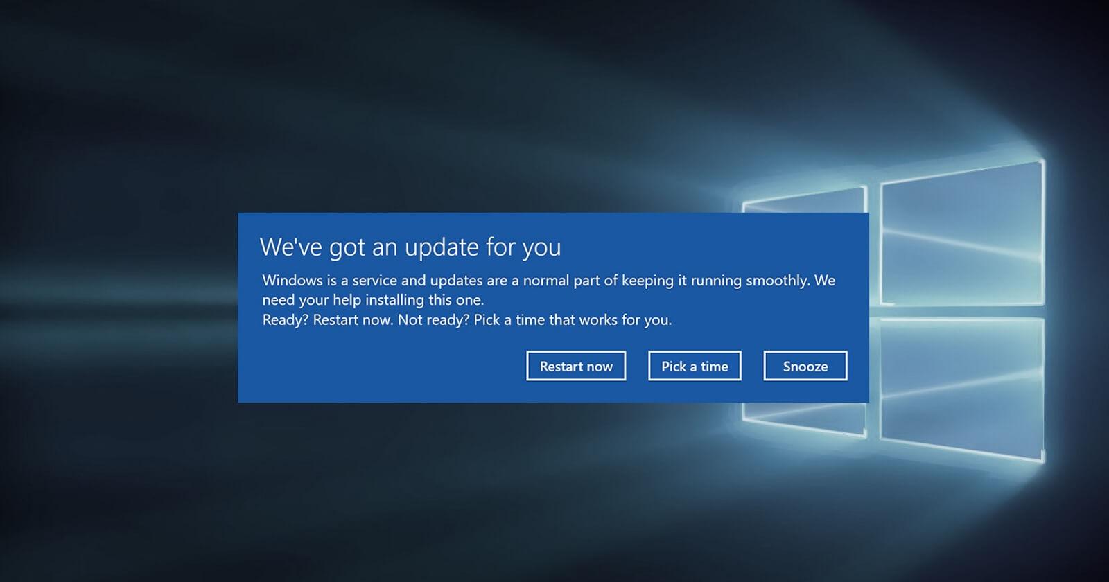 Windows 10 reboot