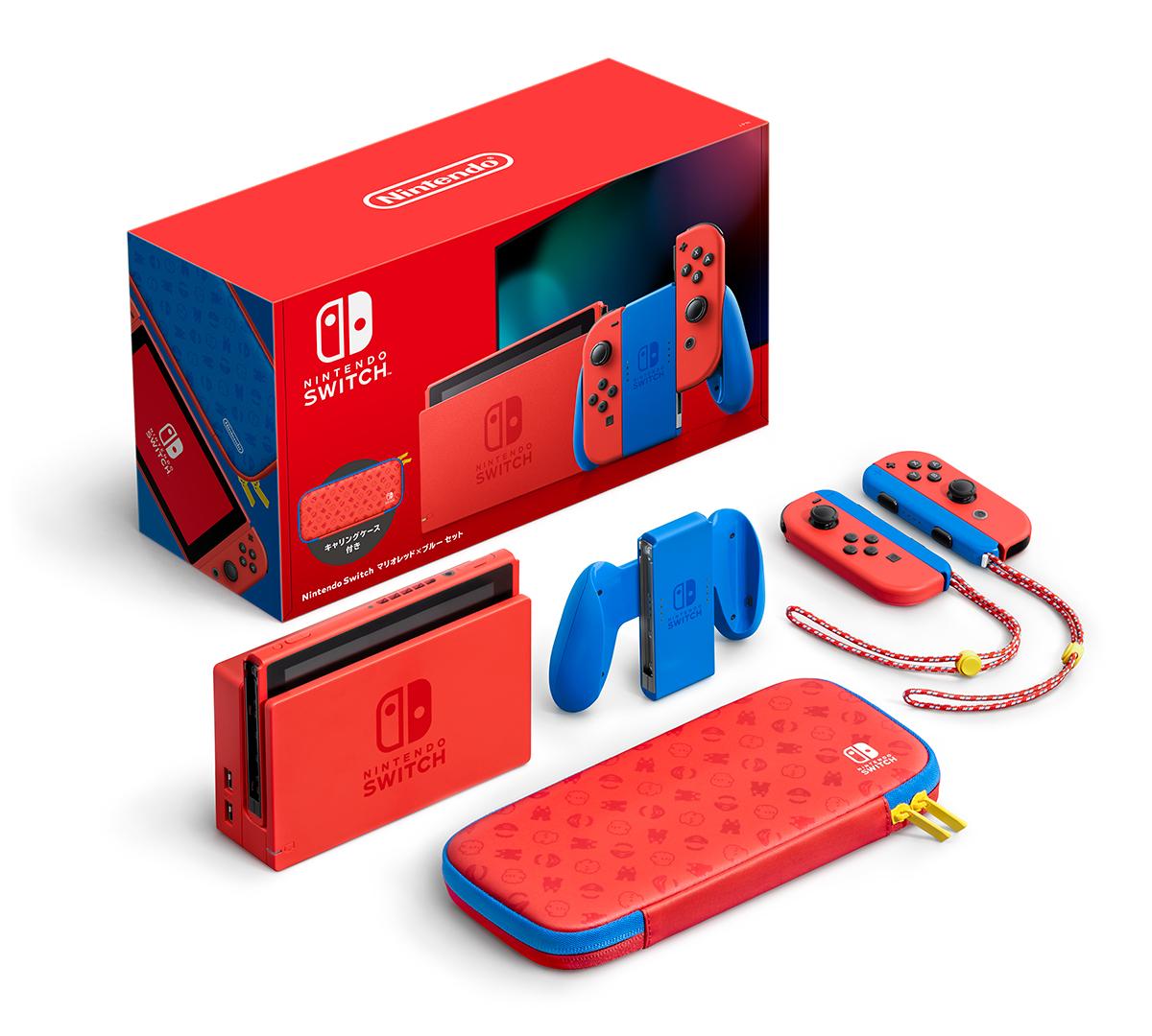 Nintendo Switch Mario Red x Blue Edition