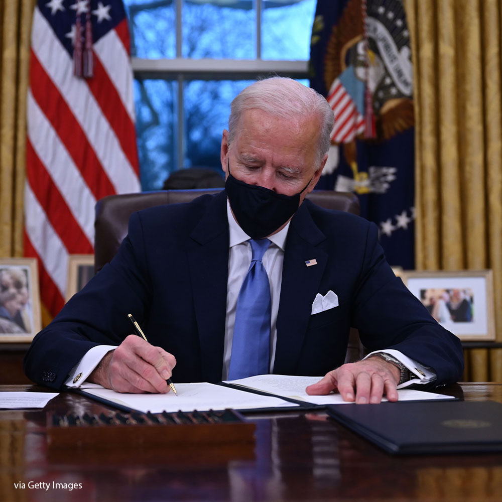 President Joe Biden's first Covid act amid 15 new orders