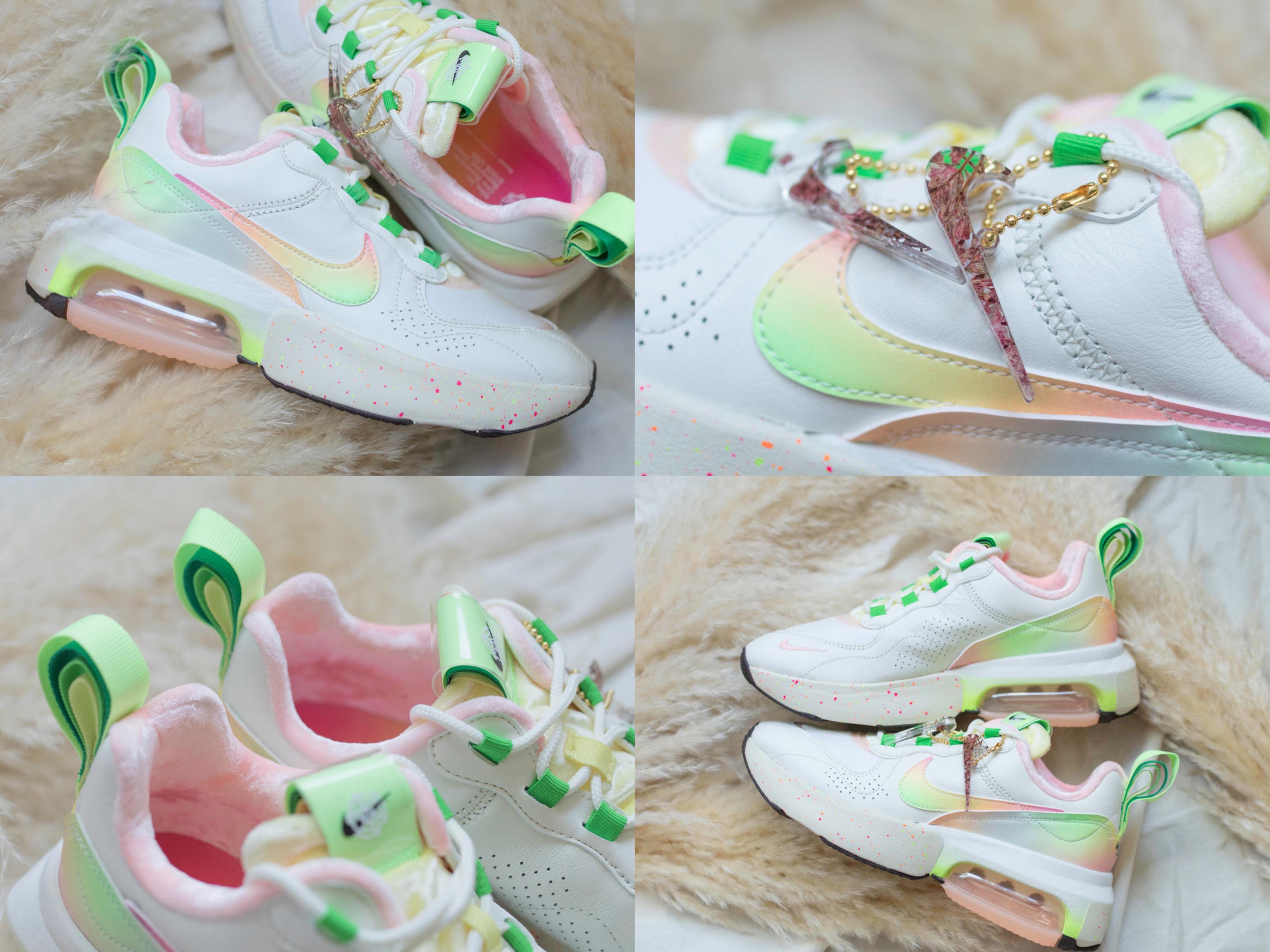 NIKE AIR MAX VERONA,NT$5400 採用四種不同綠色系的鞋後跟拉環更是大膽且別出心裁
