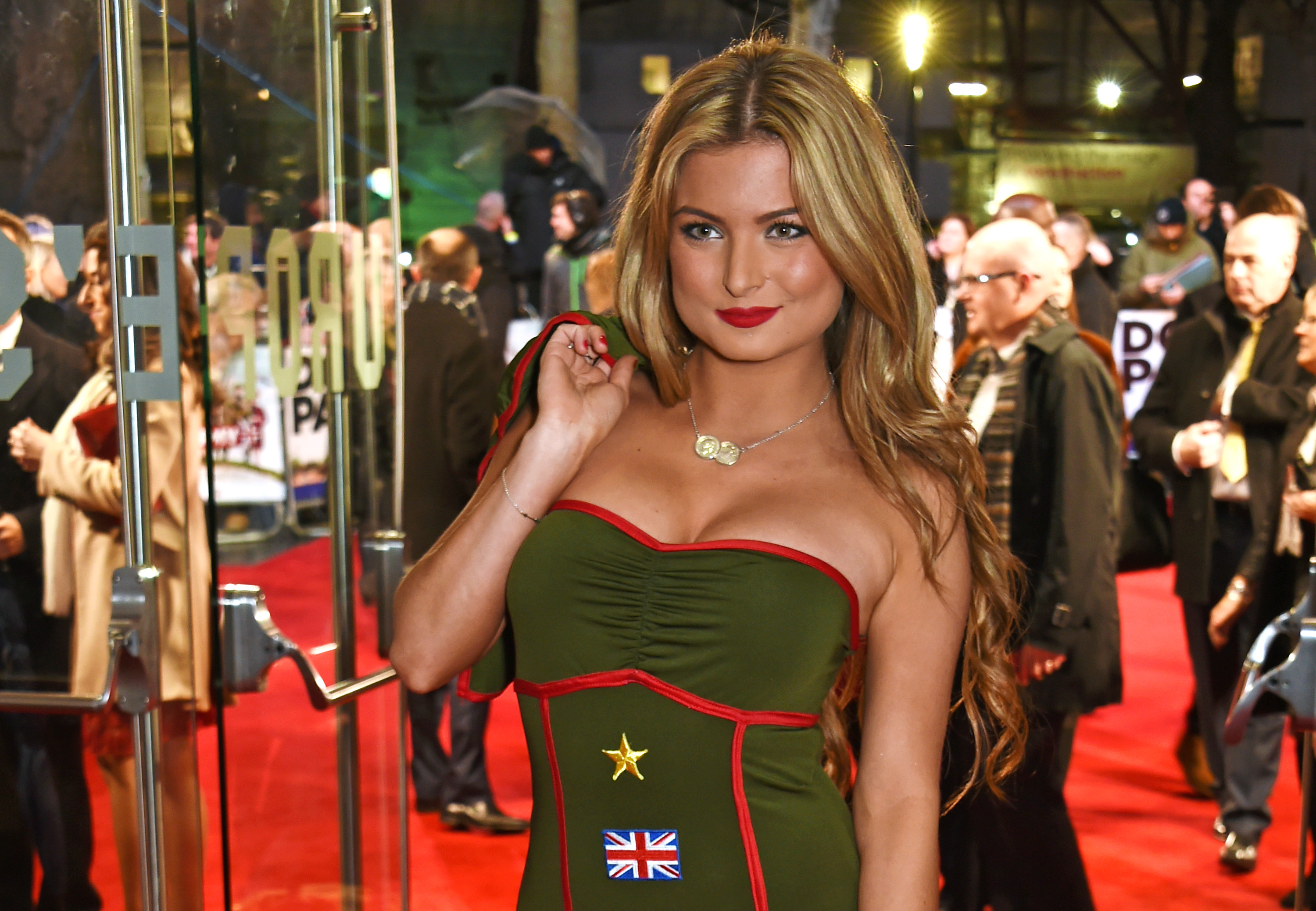 LONDON, ENGLAND - JANUARY 26:  Zara Holland, Miss Great Britain 2015/16, attends the World Premiere of 'Dad's Army' at Odeon Leicester Square on January 26, 2016 in London, United Kingdom.  (Photo by David M. Benett/Dave Benett/WireImage)