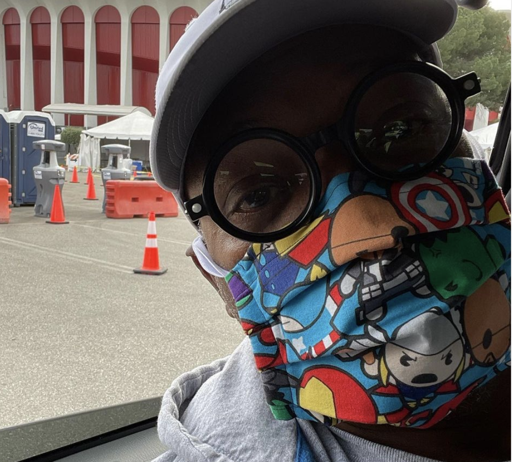 Samuel L. Jackson wears 'Avengers' face mask to get his COVID-19 vaccination