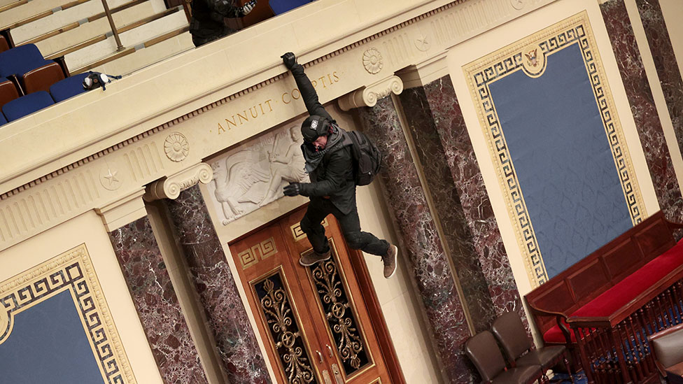 Journalists capture terrifying moments inside Capitol building