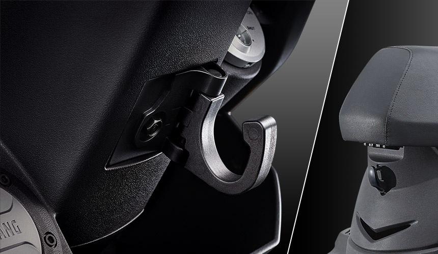 圖/2020 SYM迪爵Duke 125 CBS外型跳脫當代車款繁瑣的運動化元素,改以寬大俐落的線條建構成,散發出經簡耐看的風格,當然也導入許多貼心的實用設計。