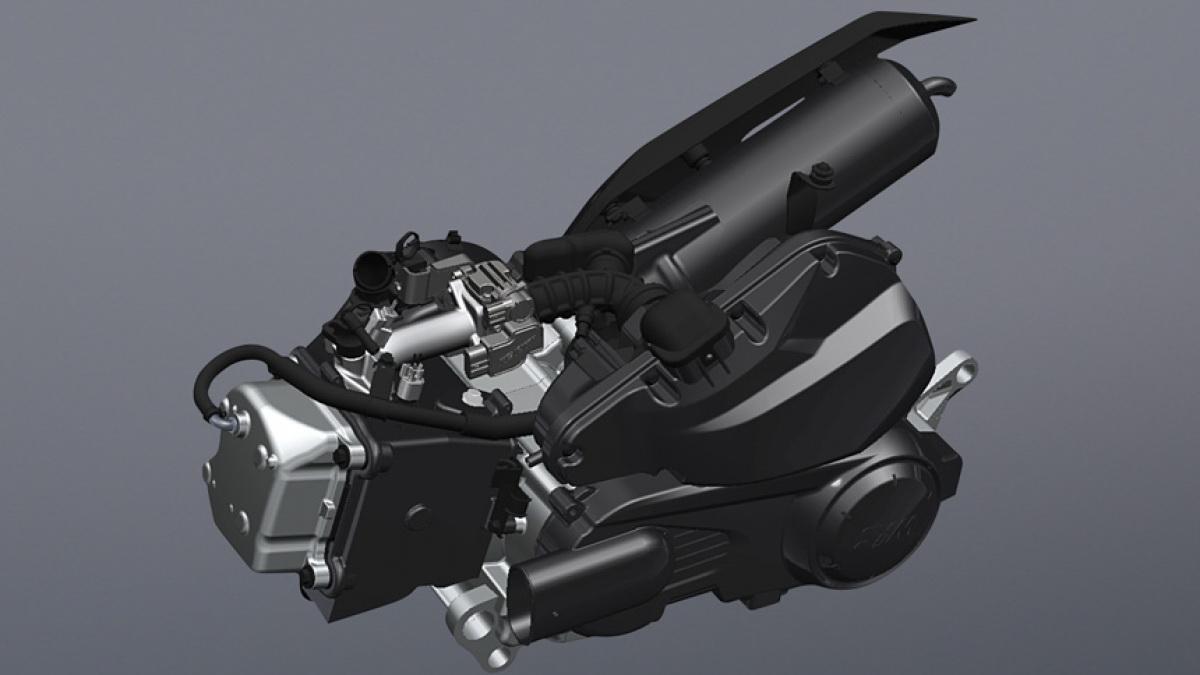 圖/2020 SYM 活力Vivo 125 CBS採用SYM新一代Clean Power引擎技術,導入與SYM最新豪華科技車款FNX 125同等級的低阻抗滾子搖臂汽缸頭,能同時兼顧性能與油耗表現。