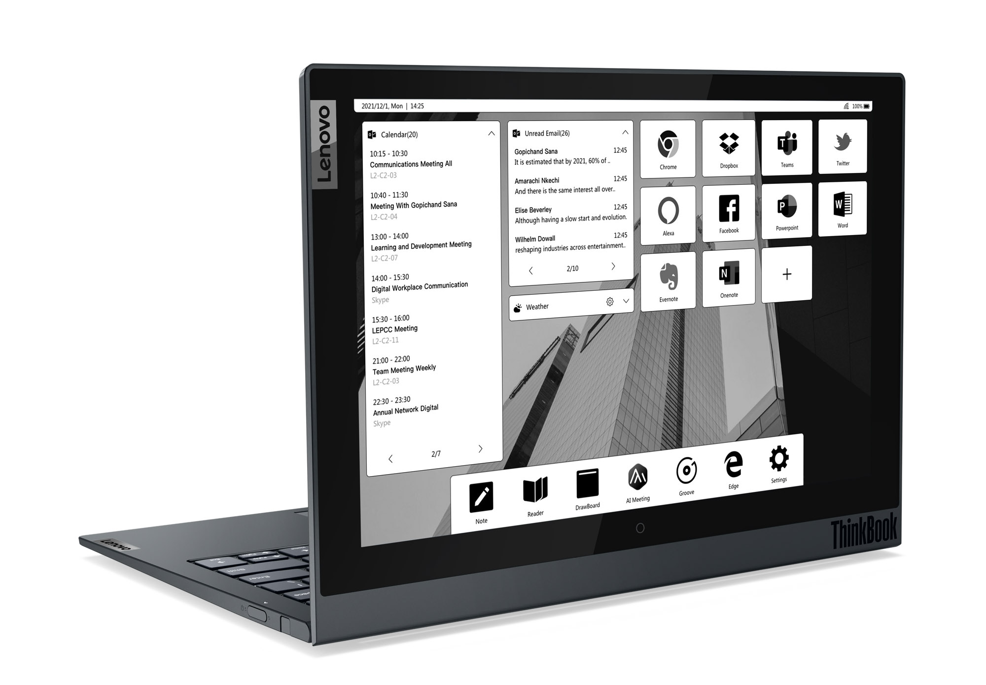Lenovo ThinkBook Plus Gen 2 i with an E Ink secondary screen.